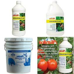 32/128/640 Oz 5-1-1 Organic Liquid Fish Fertilizer Vegetable