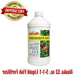 Alaska 32 oz. 5-1-1 Liquid Fish Fertilizer, Water Soluble