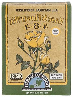 Down to Earth 17802 4-8-4 Rose and Flower Fertilizer Mix, 1