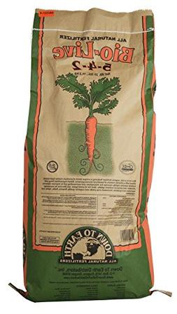 Down To Earth Bio-Live Fertilizer 25 lb. 25 Pound Down to Ea