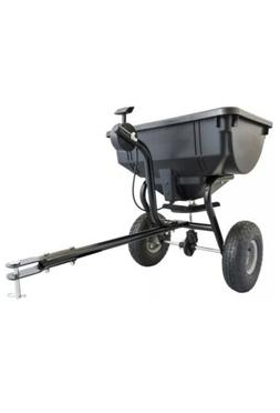 85 Lb Behind Broadcast Spreader Tow Hopper Fertilizer Seed A