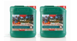 CANNA 5 L Coco Part A & B-Veg & Bloom Nutrient-Developed for