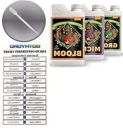 Advanced Nutrients Grow Micro Bloom Set 1L Each + GotHydro C