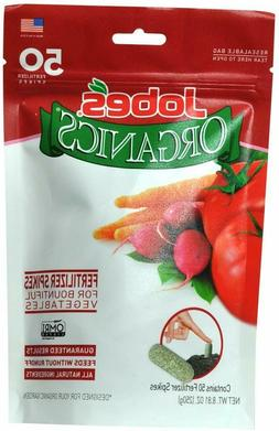 Jobe's Organics Vegetable & Tomato Fertilizer Spikes, 50 Spi