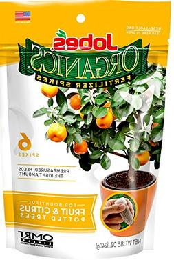 Jobe's Organics 3-5-5 Fruit & Citrus Tree Fertilizer 6 Spi