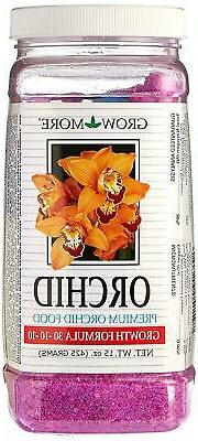 15 oz GROW MORE 30-10-10 PREMIUM ORCHID FOOD FERTILIZER for
