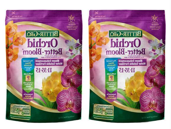 2 Packs Better Gro Orchid Better Bloom 16 Oz Plant Food
