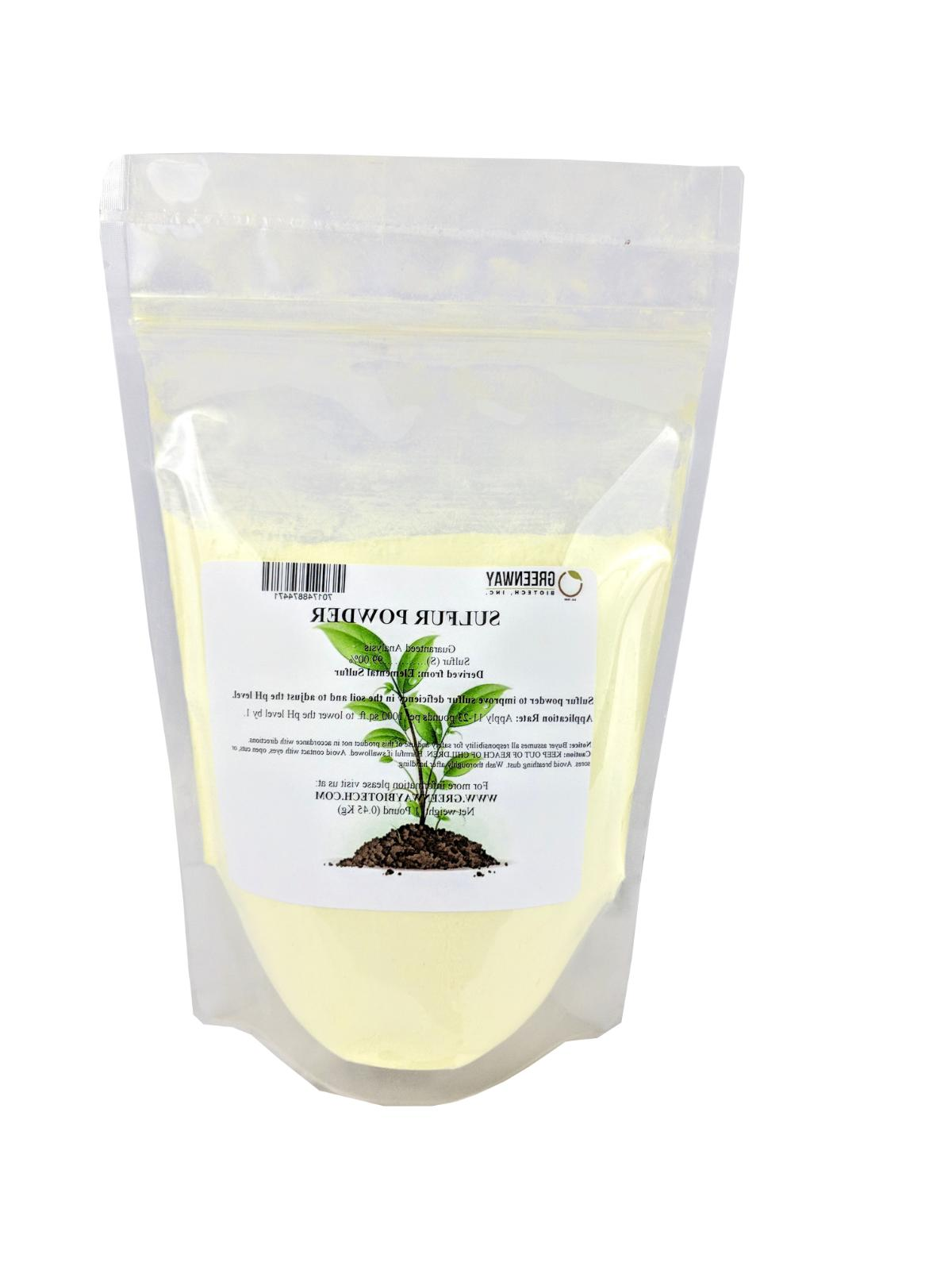 "Yellow Sulfur Powder""Greenway Biotech Brand"" 1 Pound"