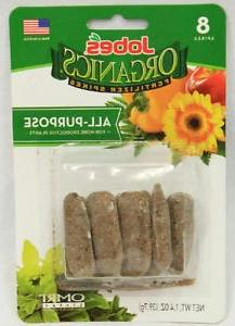 Jobes A/P Organic Spikes, 8 Count