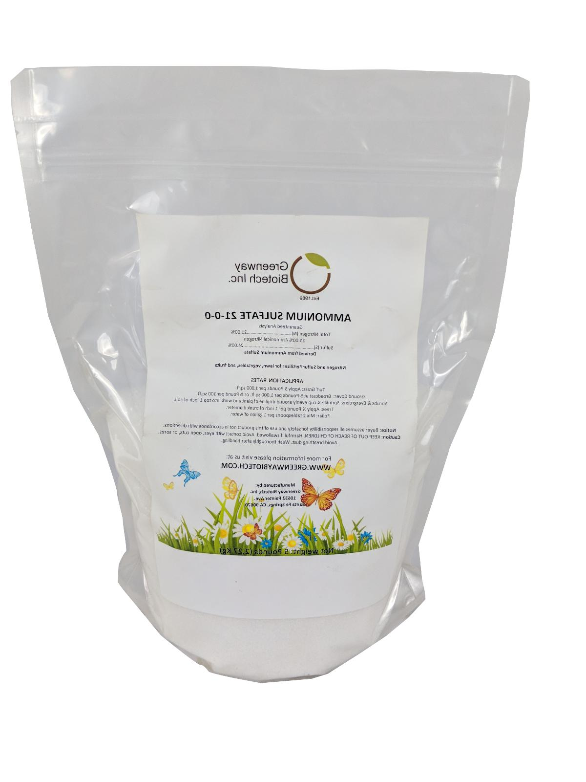 Ammonium Sulfate Fertilizer 21-0-0 Plus 24% Sulfur 100% Wate