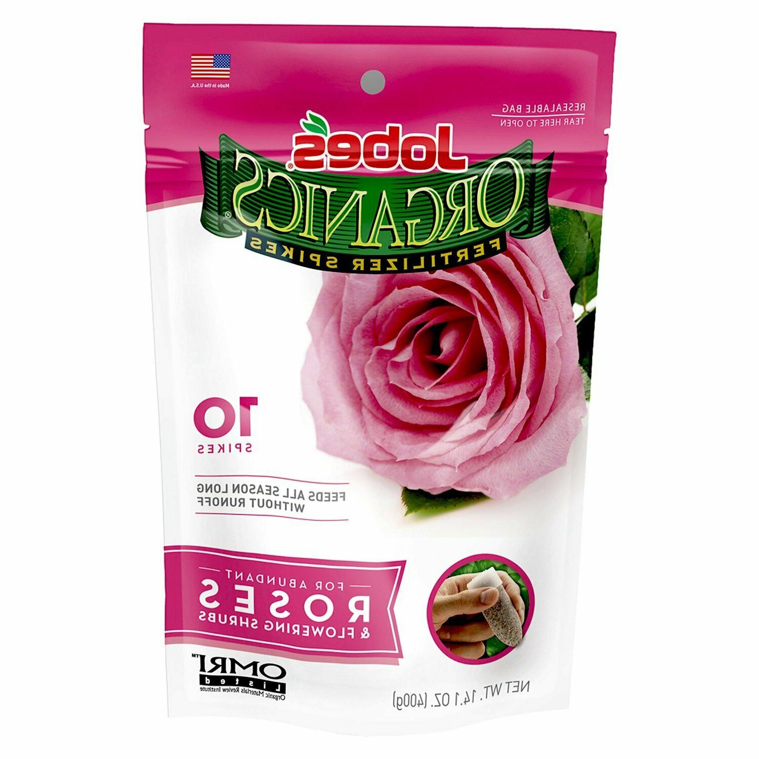 Jobe's Rose Bushes Flower Shrubs Fertilizer Spikes Plant Foo