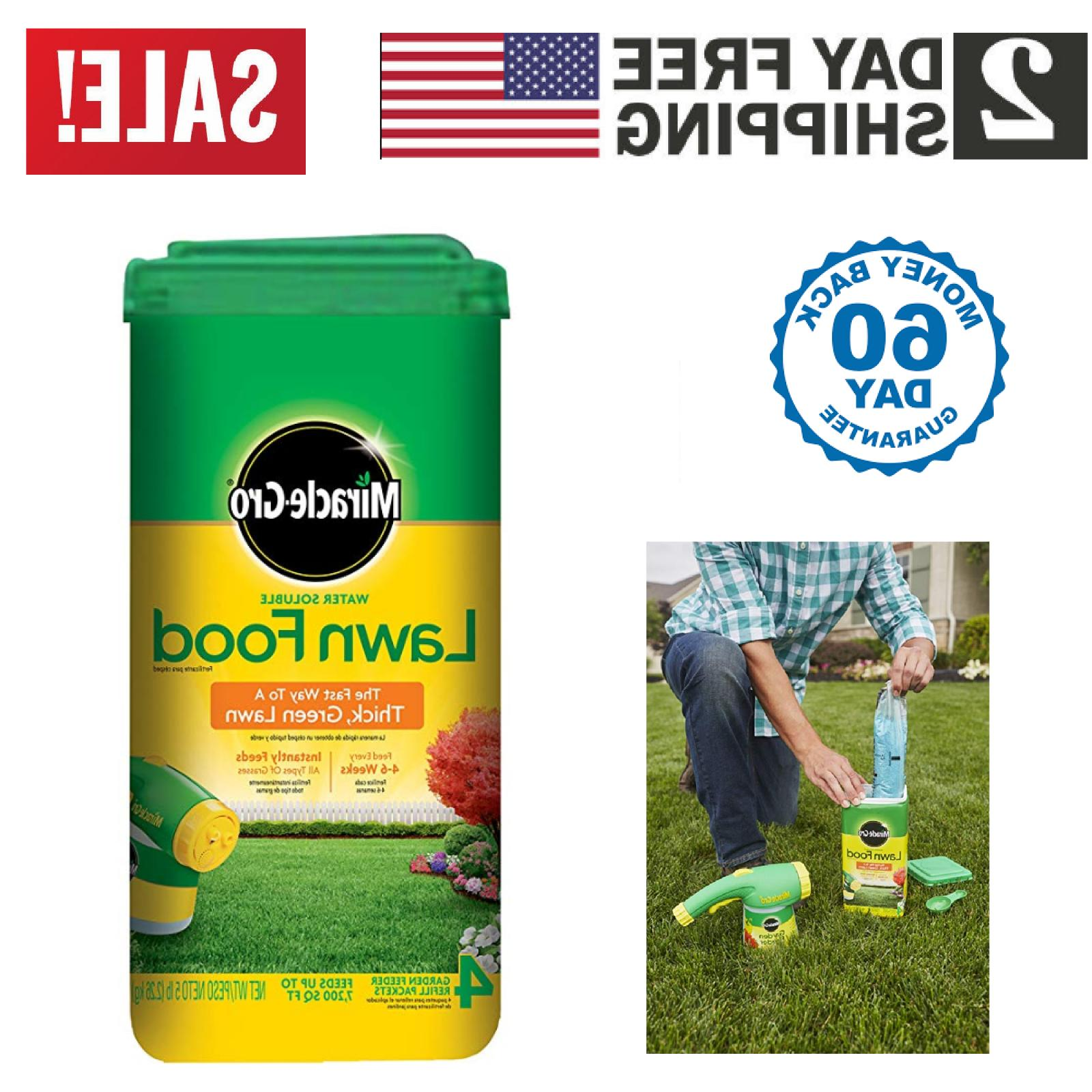 miracle gro water soluble lawn food 5