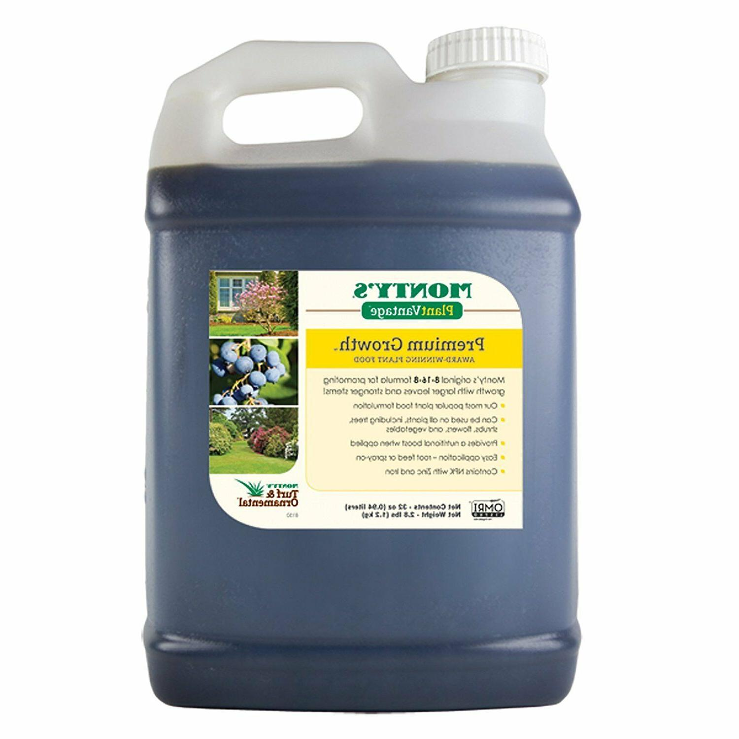 Monty's 816321 Growth Formula 8-16-8 Liquid Plant Food--32 O