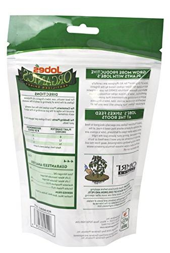 Jobe's Organics All Fertilizer Spikes, 4-4-4 Organic Time All Plants, Spikes per