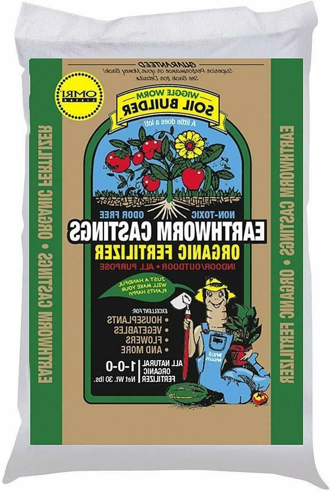 Soil Builder Earthworm Castings Organic Fertilizer Lawn For
