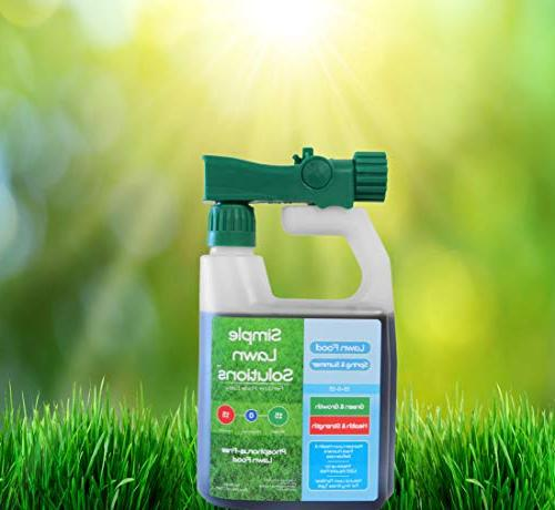 Superior Nitrogen & 15-0-15 Food Natural Concentrated Any Type- Simple Lawn Solutions Green, Health Strength- Phosphorus-Free