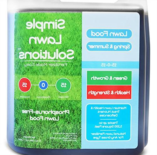 Superior 15-0-15 Lawn Natural Fertilizer Type- Simple Lawn Green, Grow, Health & Strength-