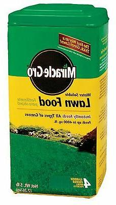 water soluble lawn food