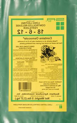 Long Lasting Controlled Release Fertilizer 18-6-12 contains