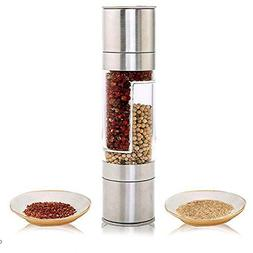 Mills - Stainless Steel Manual Salt Pepper Mill Seasoning Gr