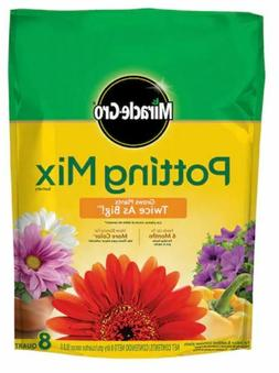 Miracle Gro Potting Mix Soil 8 Quart, Feeds 6 Months, Indoor
