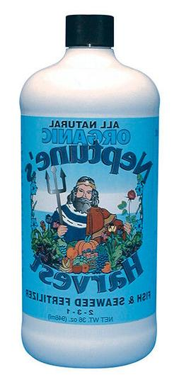 Neptune's Harvest Quart  Liquid Fish & Seaweed Fertilizer-Or