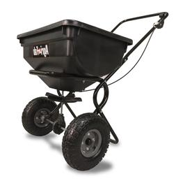 Fertilizer Spreader Broadcast Seed Lawn Pneumatic Tires 85 l
