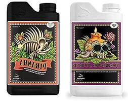 Advanced Nutrients Voodoo Juice and Piranha Liquid Fertilize