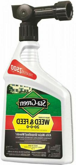 Weed and Feed 32 Fl Oz Ready to Spray Lawn Fertilizer 7500 S